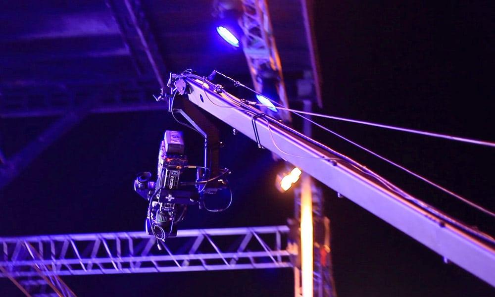 Liveübertragung mit Kamerakran