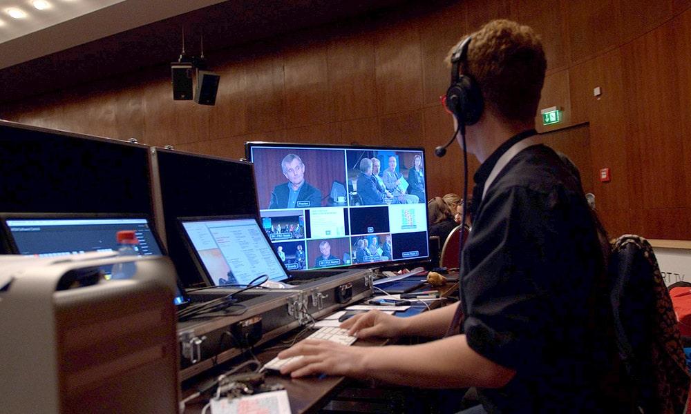 Liveübertragung eines Congress