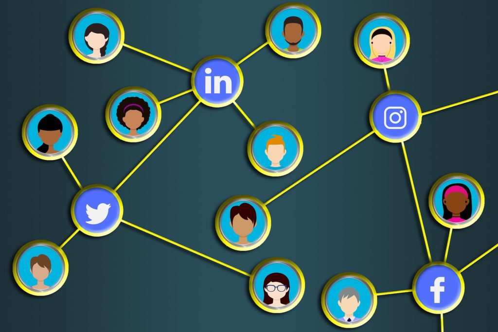 Social Network LinkedIn Facebook Twitter