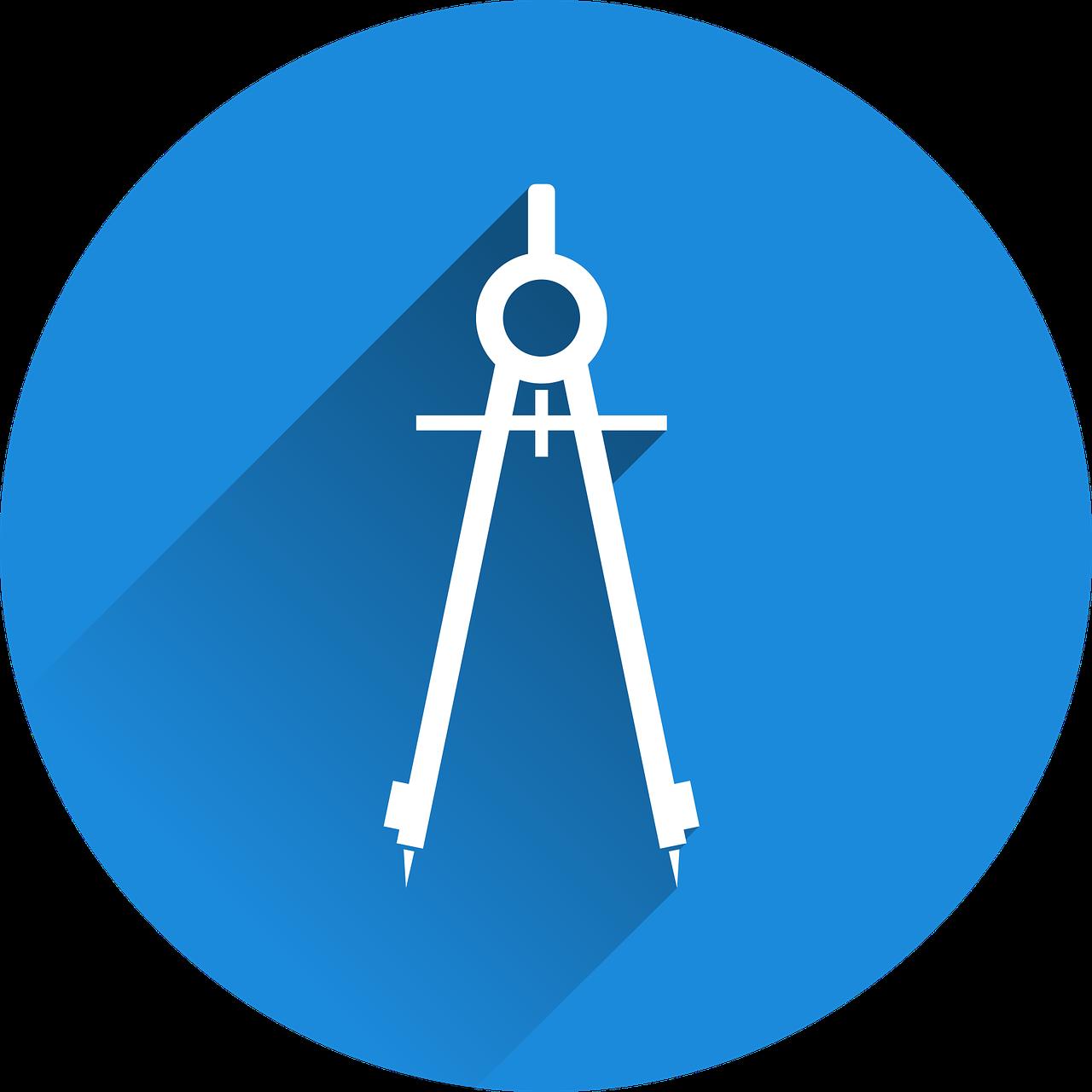 Zirkel Icon blau