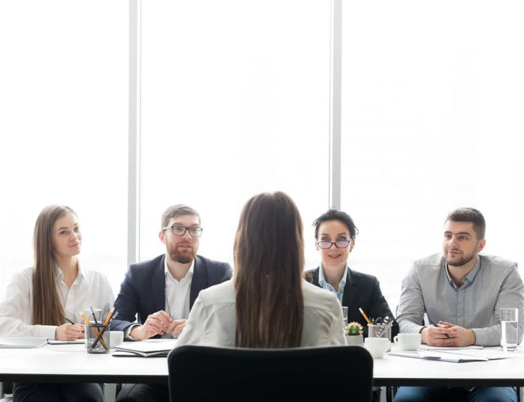 HR managers having job