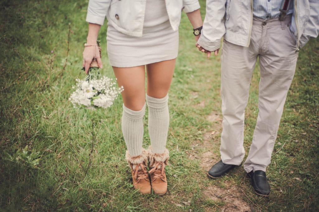 Wedding couple summer
