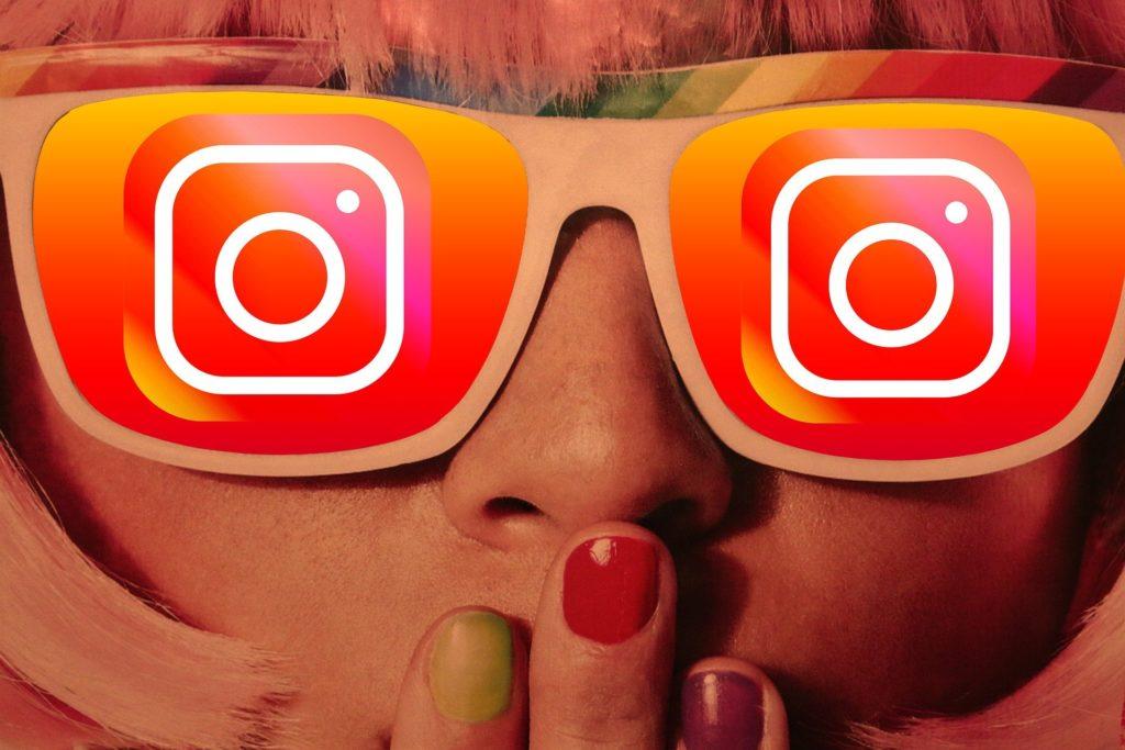Girl glasses instagram